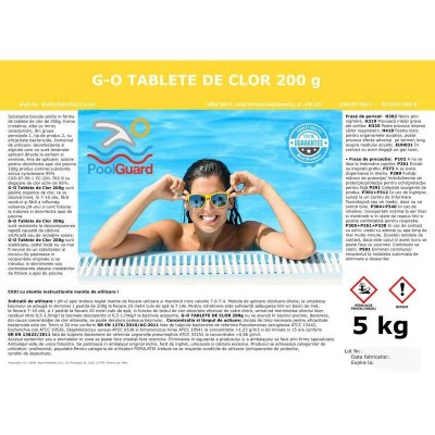 Clor lent tablete pentru piscine 5kg