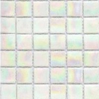 Mozaic pe plasa, alb 20R12