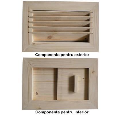 Grilaj ventilatie pentru sauna set