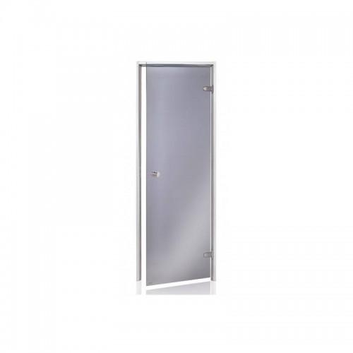 Usa aluminiu baie aburi sticla gri 7 x 20